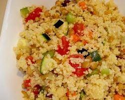 Couscous aux lentilles et aux légumes