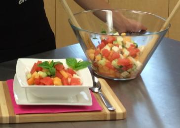 Salade de melons et feta