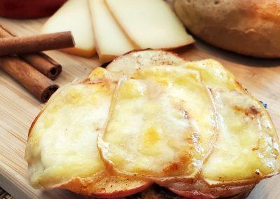 Bagels gratinés pomme cannelle