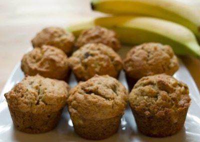 Mini muffins bananes et dattes
