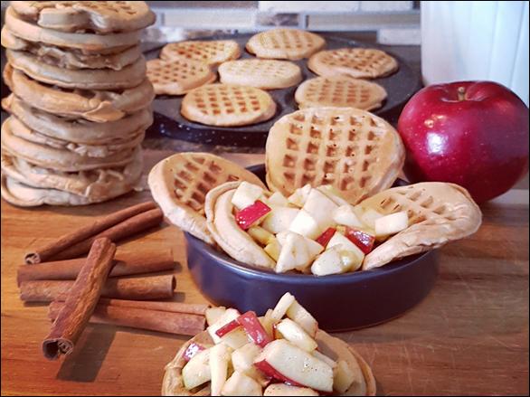 Mini gaufres aux pommes